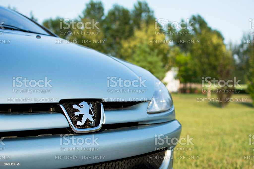 Peugeot 206 coupe cabriolet parked in the park stock photo