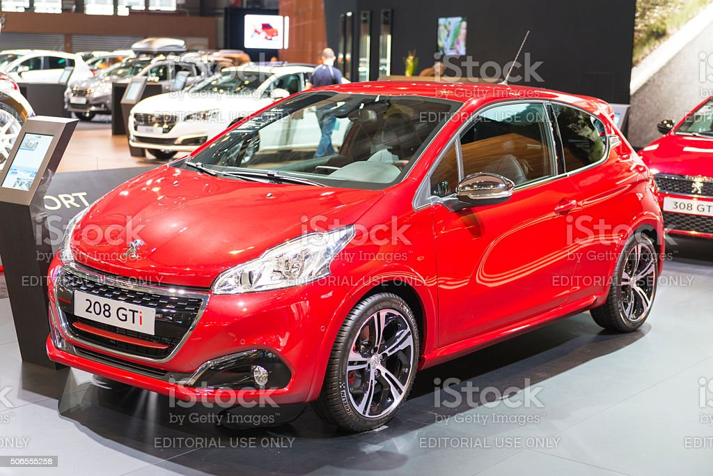 Peugeot 208 GTi compact performance  hatchback car stock photo