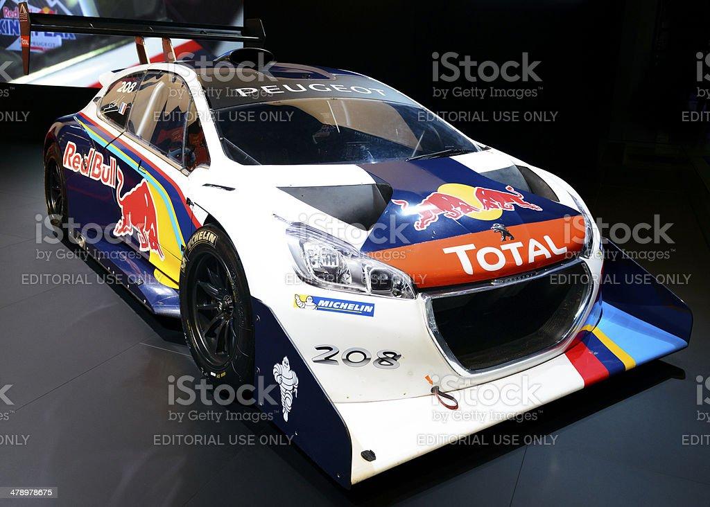 Peugeot 208 T16 Pikes Peak race car stock photo