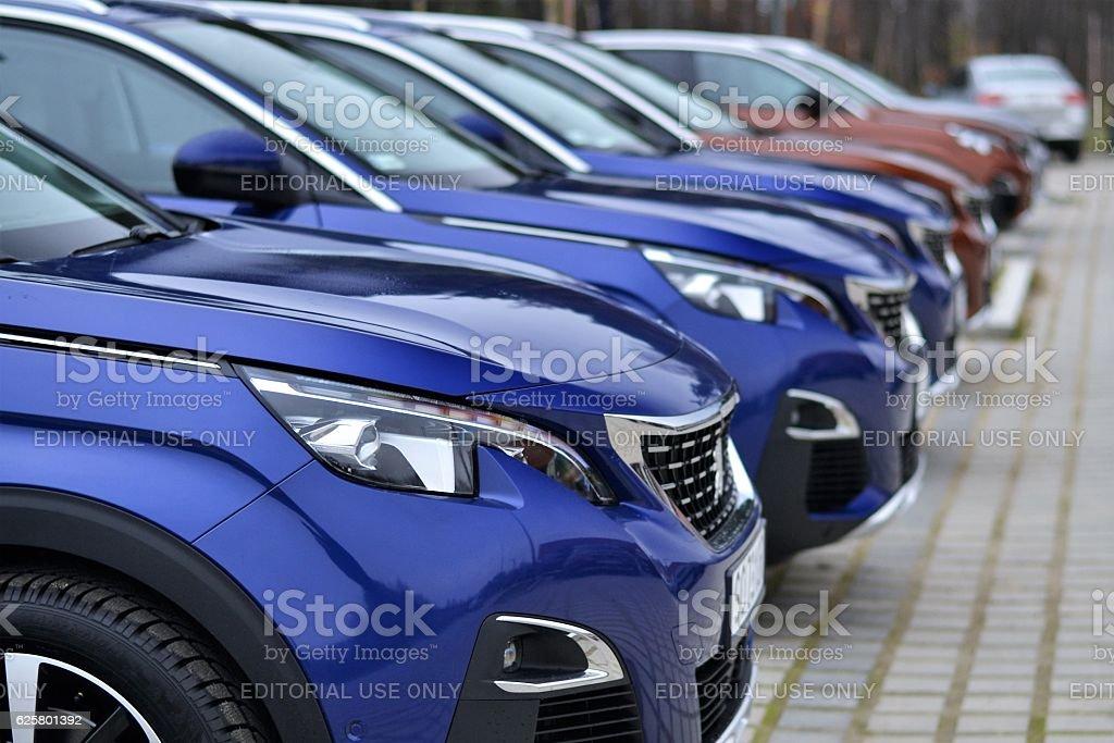 Peugeot 3008 vehicles stock photo