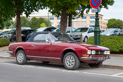 Peugeot 504 Convertible Stock Photo - Download Image Now
