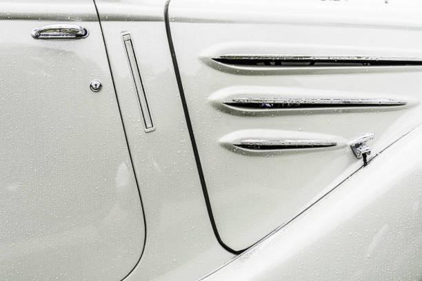 Peugeot Eclipse 1934 classic convertible car detail - foto stock