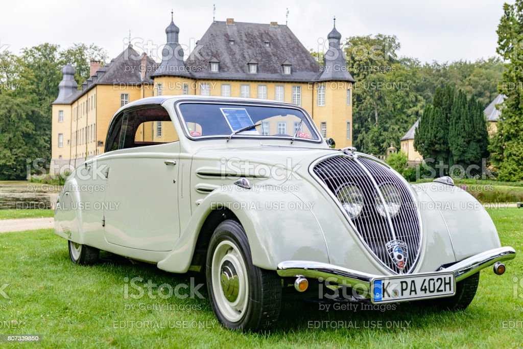 Peugeot Eclipse 1934 classic convertible car stock photo