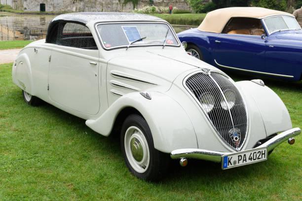 Peugeot Eclipse 1934 classic convertible car - foto stock