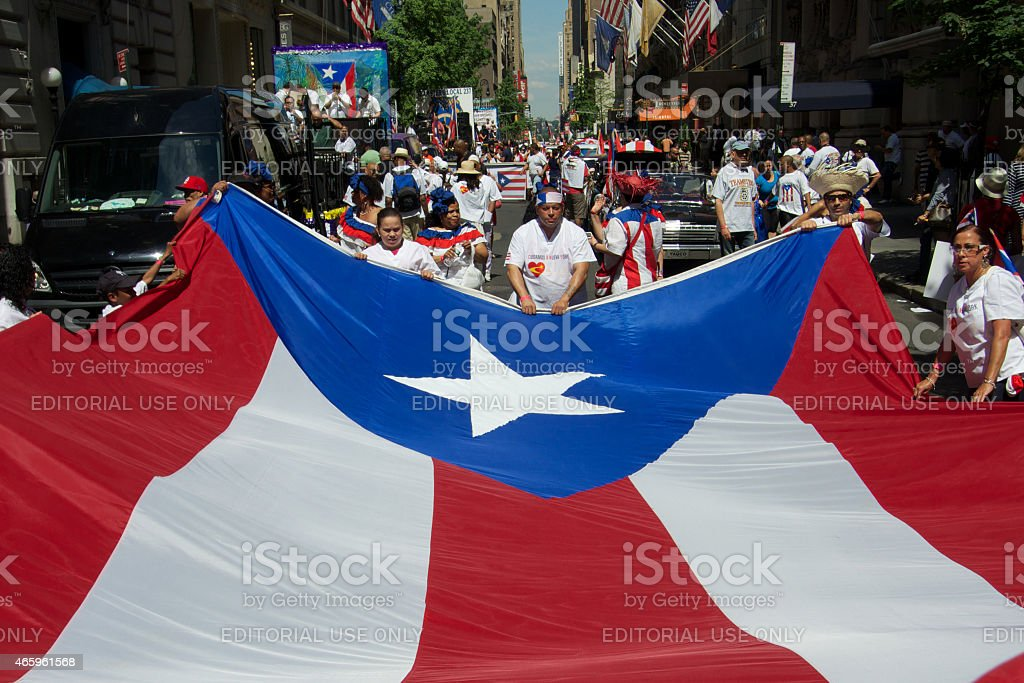 Peurto Rico Day Celebrations, New York City, June stock photo