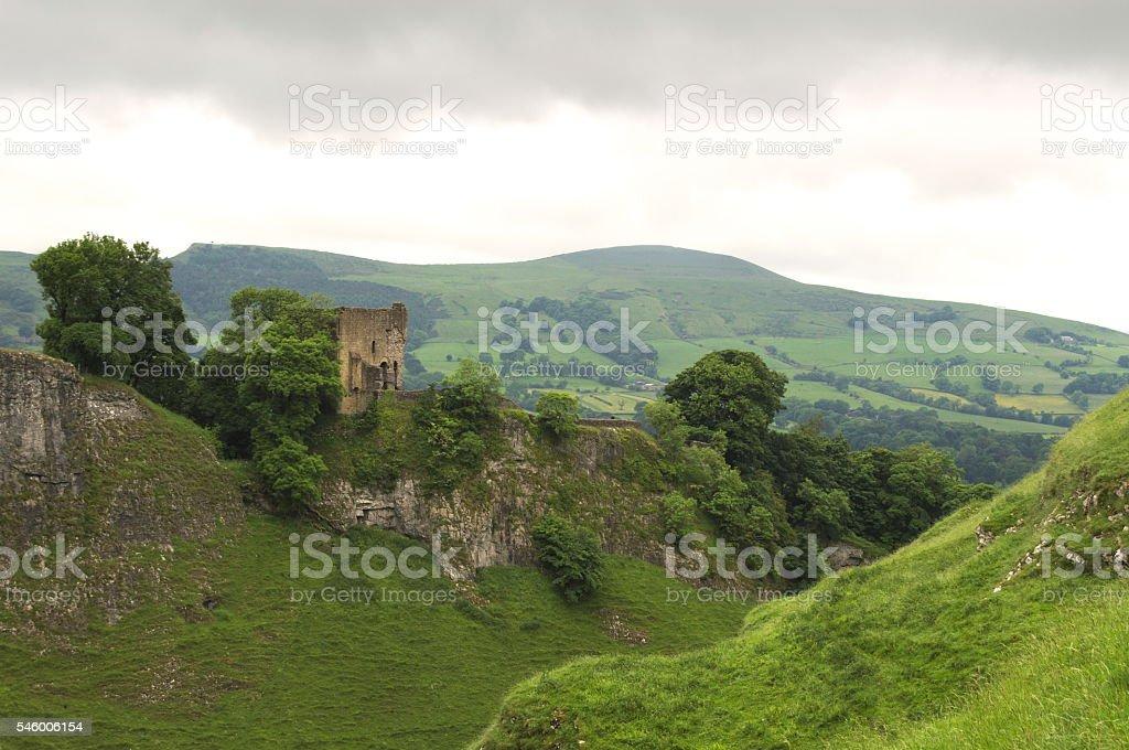 Peveril Castle stock photo