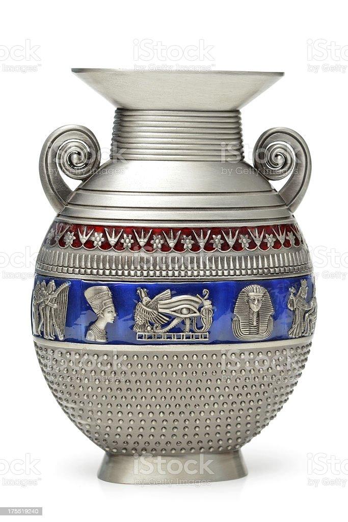 Pewter Vase stock photo