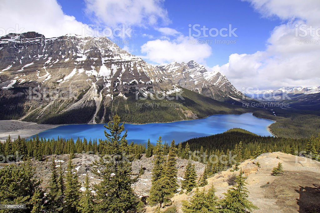 Peyto Lake royalty-free stock photo