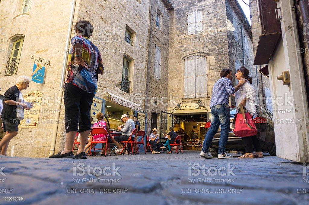 Pezanas street scene stock photo