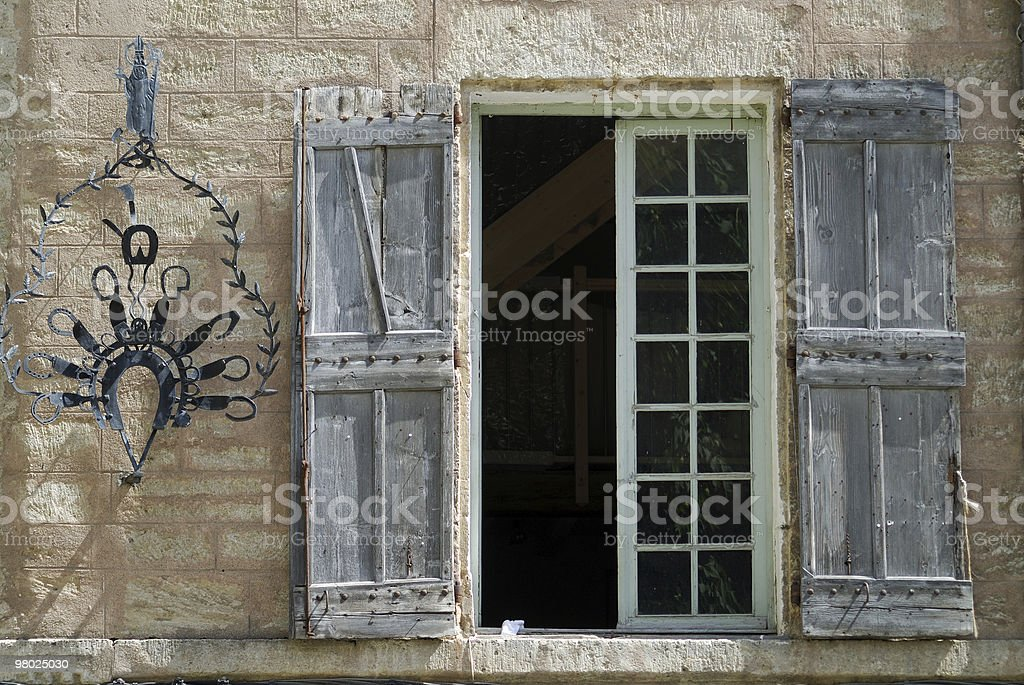Pezenas (Languedoc-Roussillon, France) - A window royalty-free stock photo