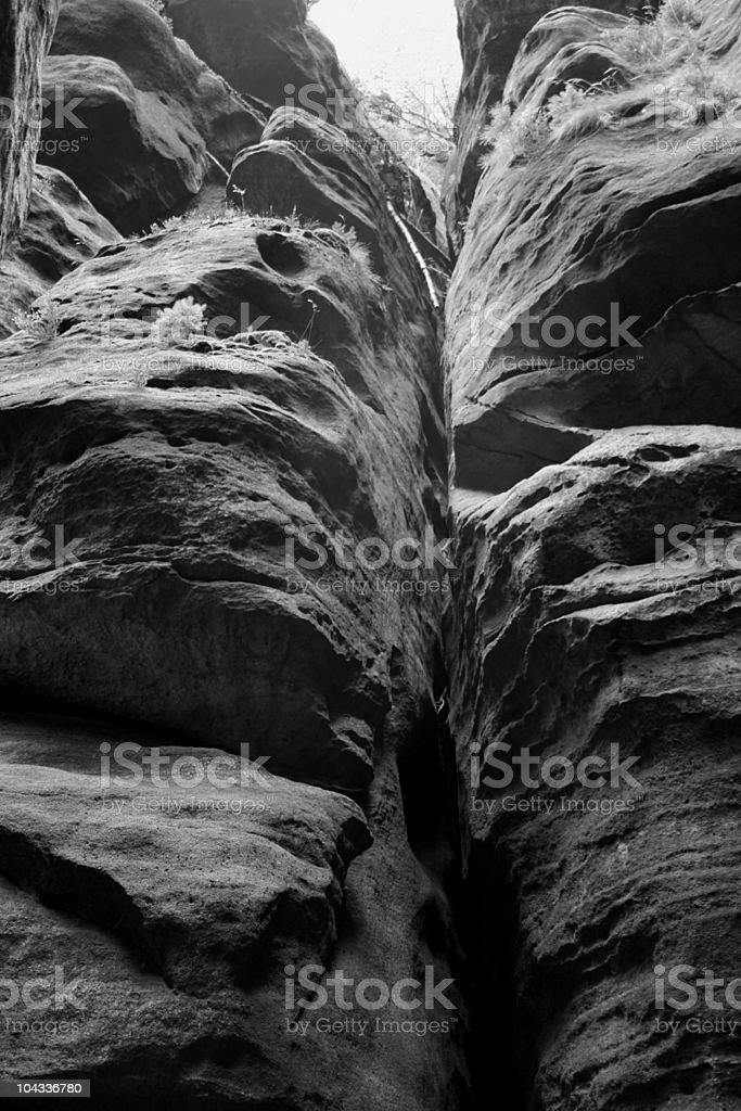 Pfaffenstein Rock stock photo