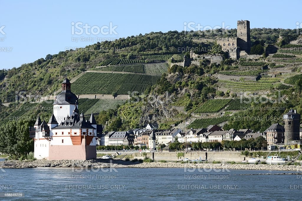 Pfalzgrafenstein Castle stock photo