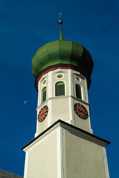 Pfarrkirche St. Bartholomäberg stock photo
