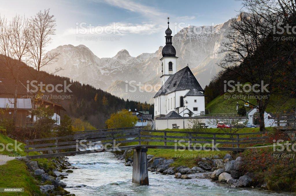 Pfarrkirche St. Sebastian, Bayern, Deutschland stock photo