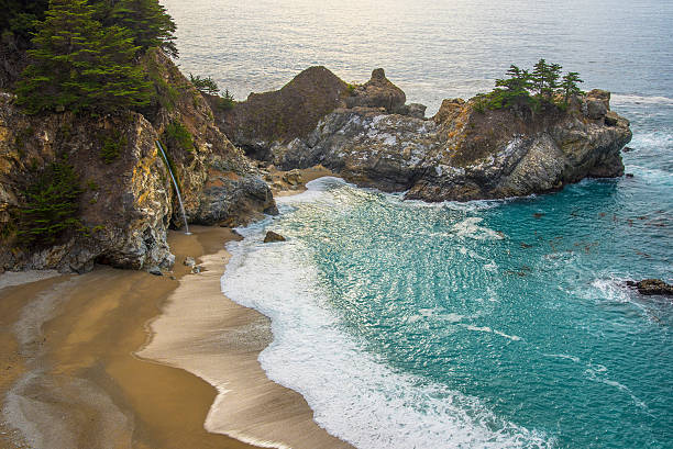 pfeiffer big sur state park beach - central coast california stock photos and pictures