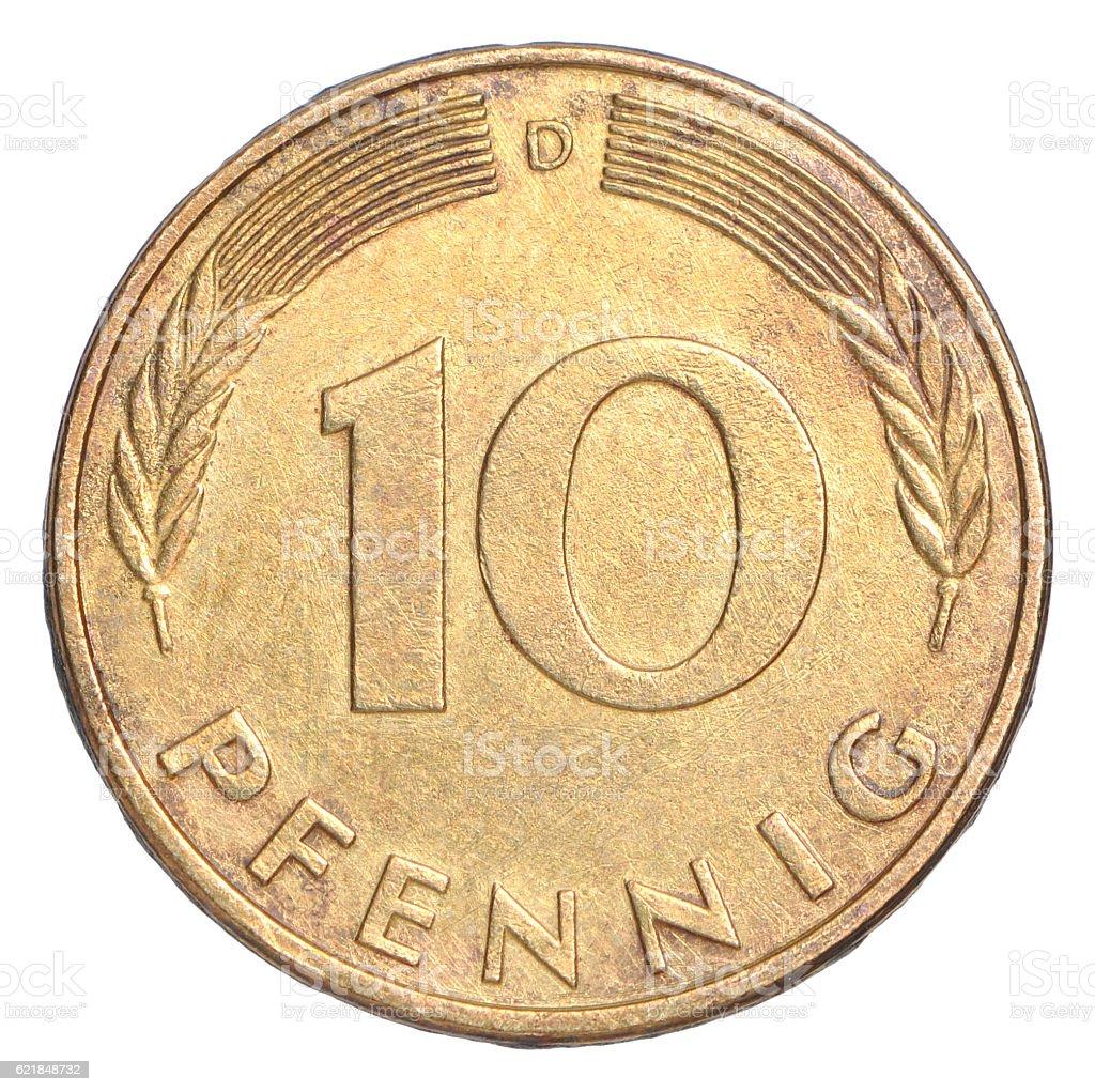 Pfennig Coin stock photo