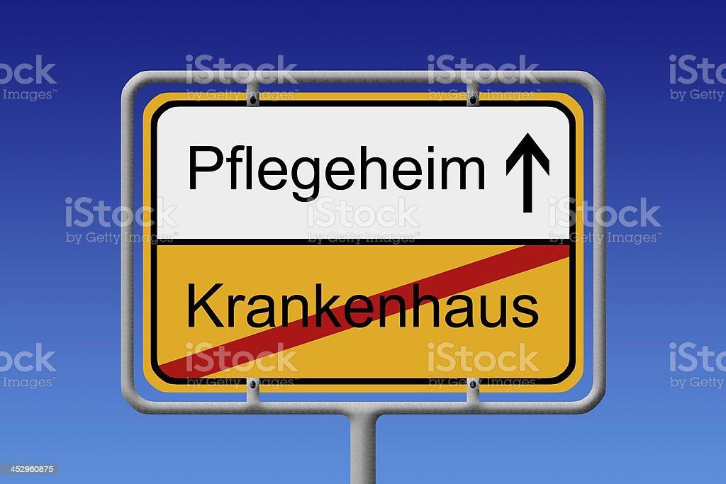 Pflegeheim-hospital acquired infection - Lizenzfrei Alter Erwachsener Stock-Foto