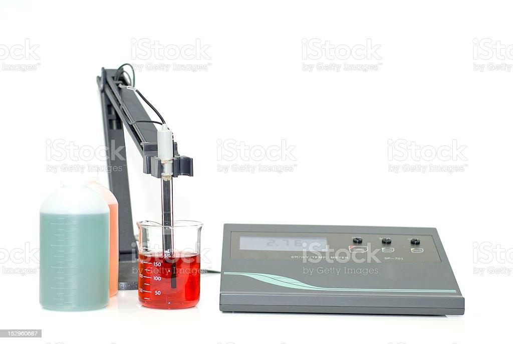 pH meter stock photo