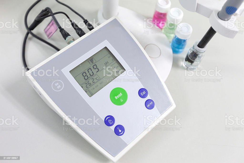 pH meter to measure the acidity-alkalinity of liquids stock photo
