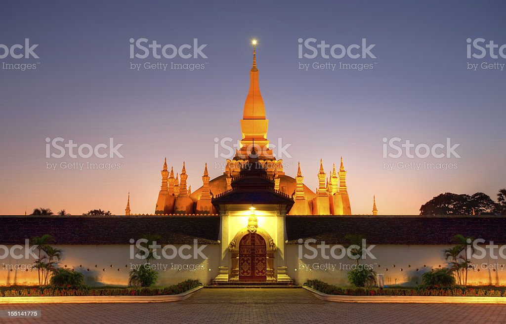 Pha That Luang stupa in Vientiane, Laos stock photo