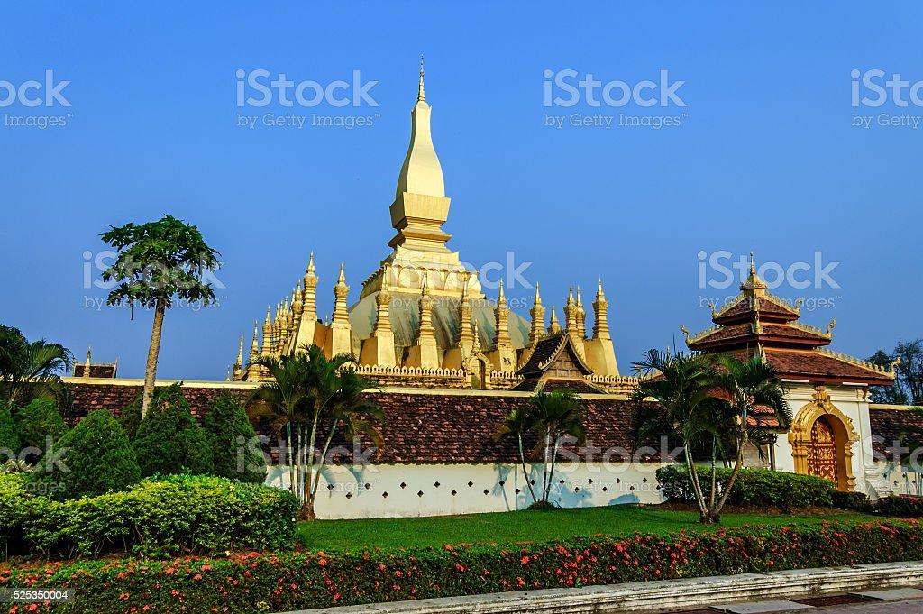 Pha That Luang, Vientiane, Laos stock photo
