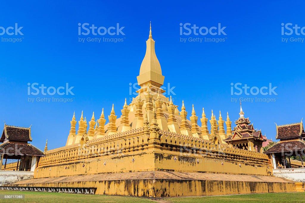 Pha That Luang, Vientiane, Laos. stock photo