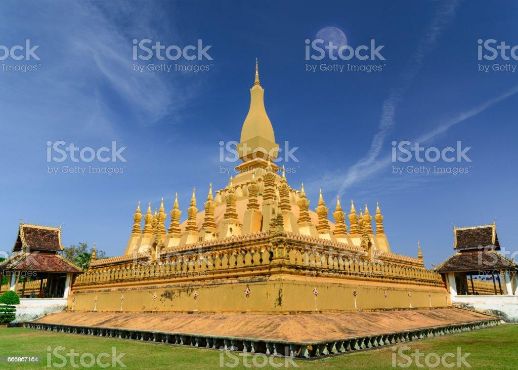 Pha That Luang Vientiane . stock photo