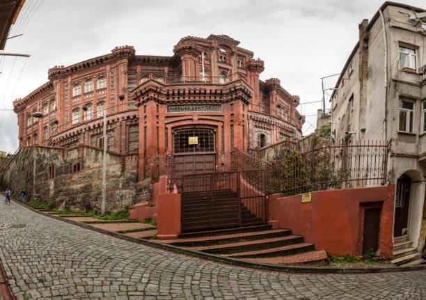 Fener Rum Ortodoks Yunanca büyük millet Okulu olarak bilinen üniversite stok fotoğrafı
