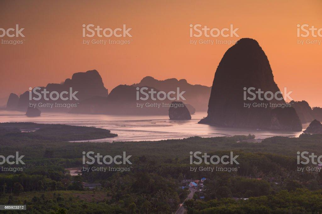 Phang Nga island foto stock royalty-free