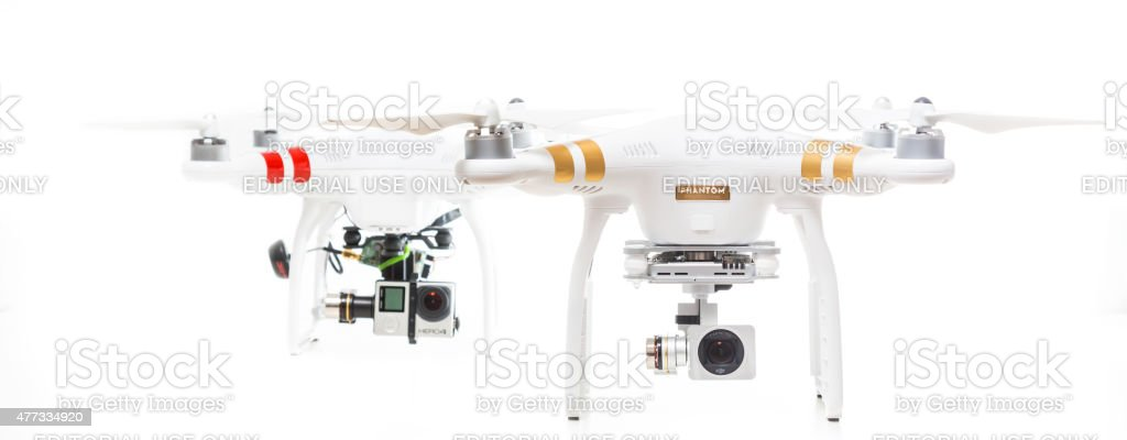 DJI Phantom 3 Professional and Phantom 1 stock photo
