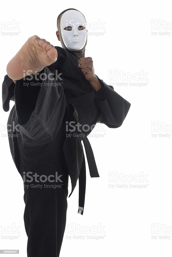 Phantom kick royalty-free stock photo