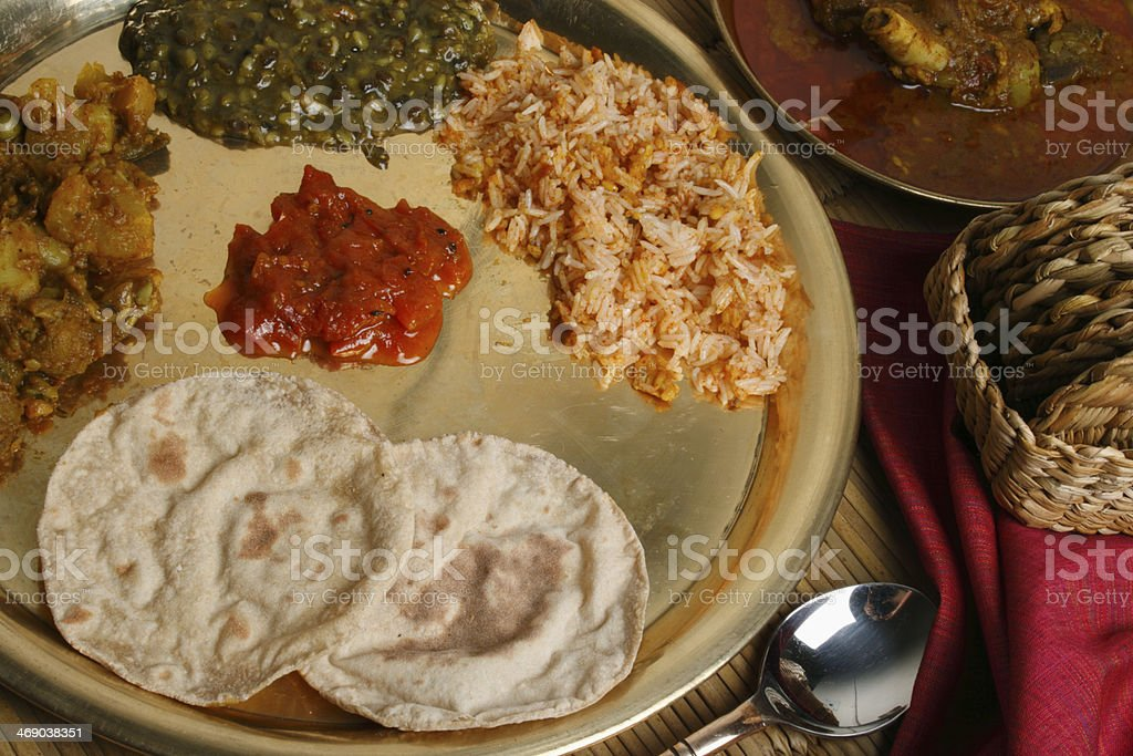 Phapar ko Roti - A typical food from Sikkim. stock photo