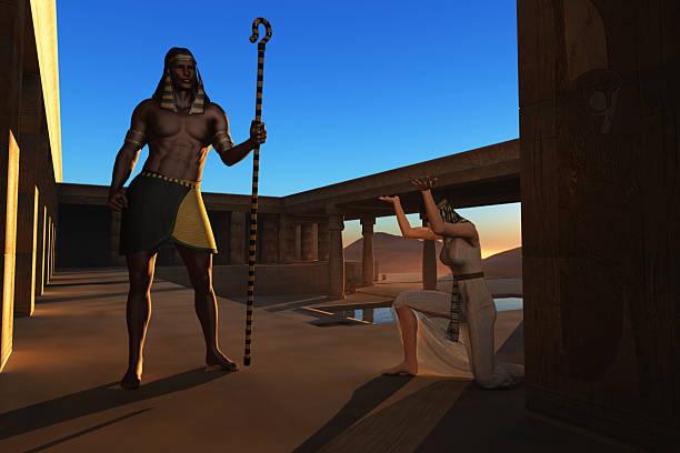 Pharaoh and slave girl stock photo