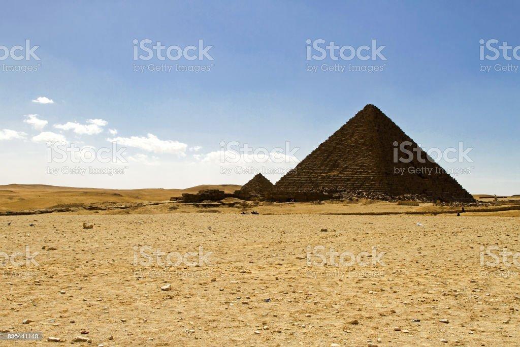 Pharaoh Menkaure pyramid stock photo