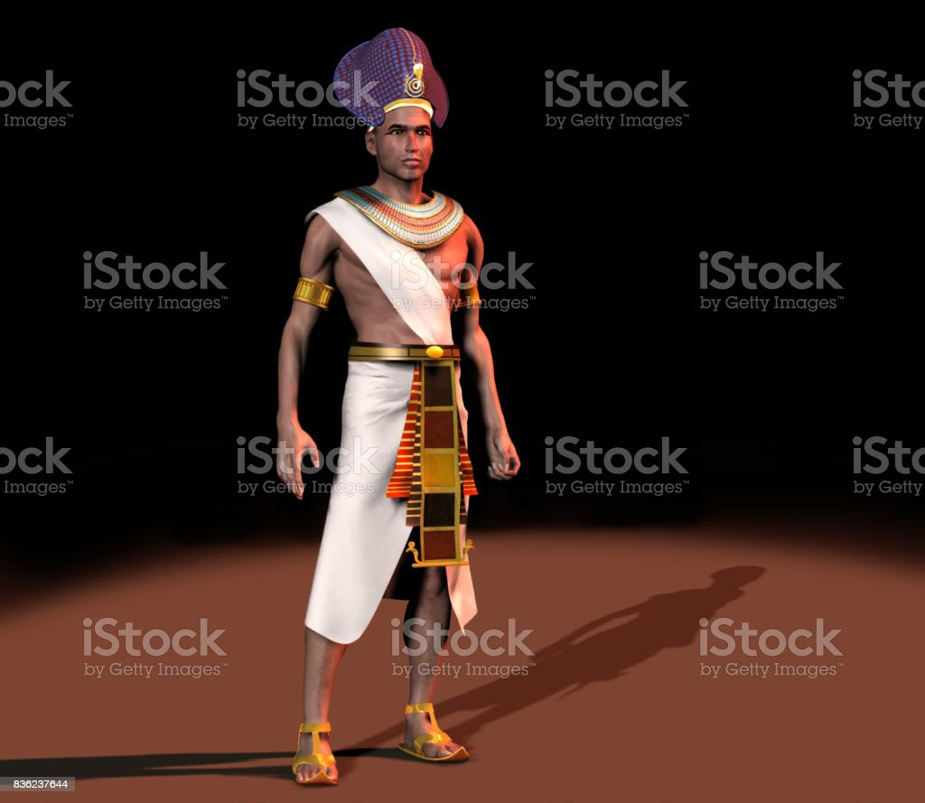 Pharaoh of ancient Egypt stock photo