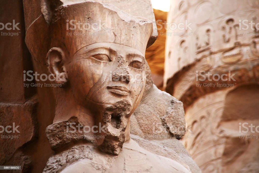 Pharaoh Ramses II, Luxor, Egypt stock photo