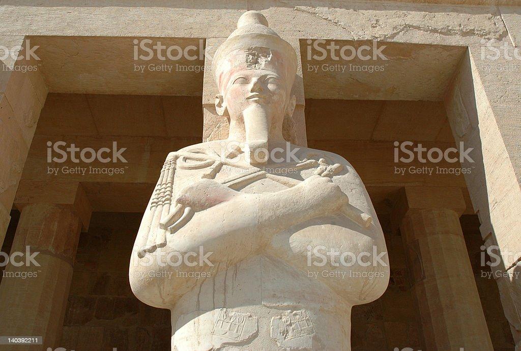Pharaon statue royalty-free stock photo