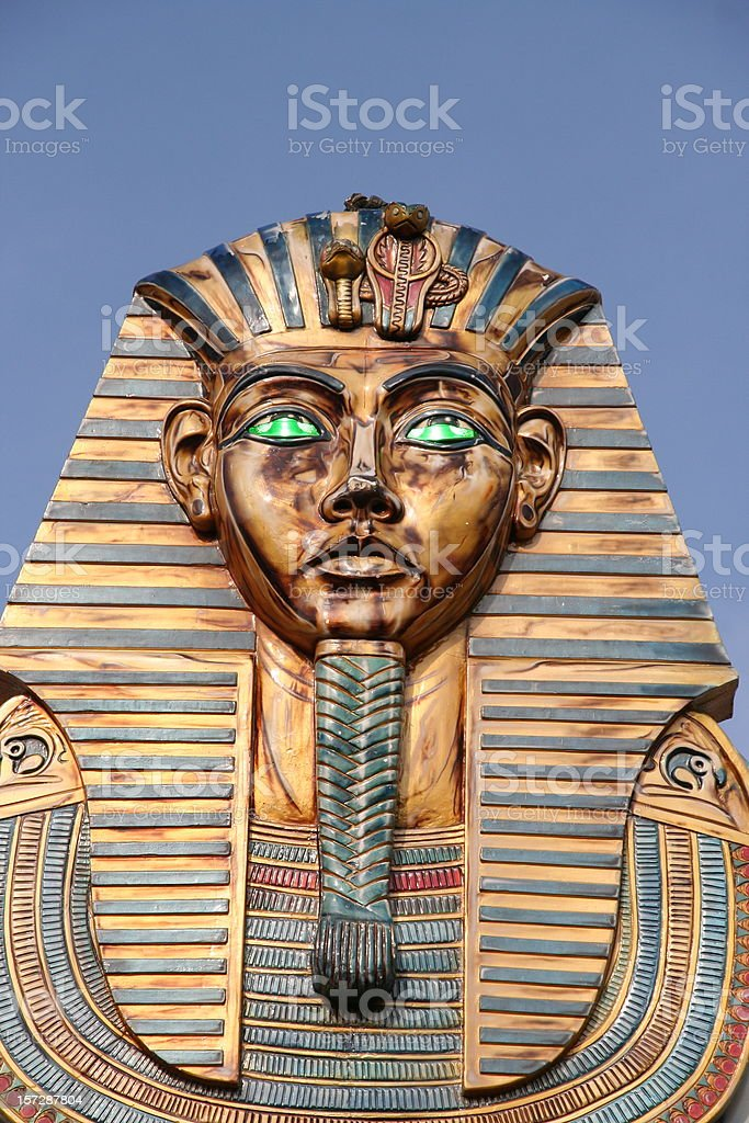 pharaoh statue royalty-free stock photo