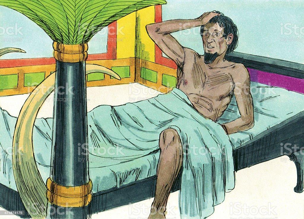 Pharaoh Wakes from Dream stock photo
