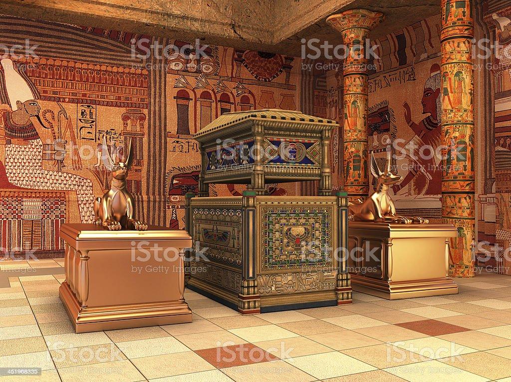 Pharaoh's Tomb ( 3d rendering ) stock photo