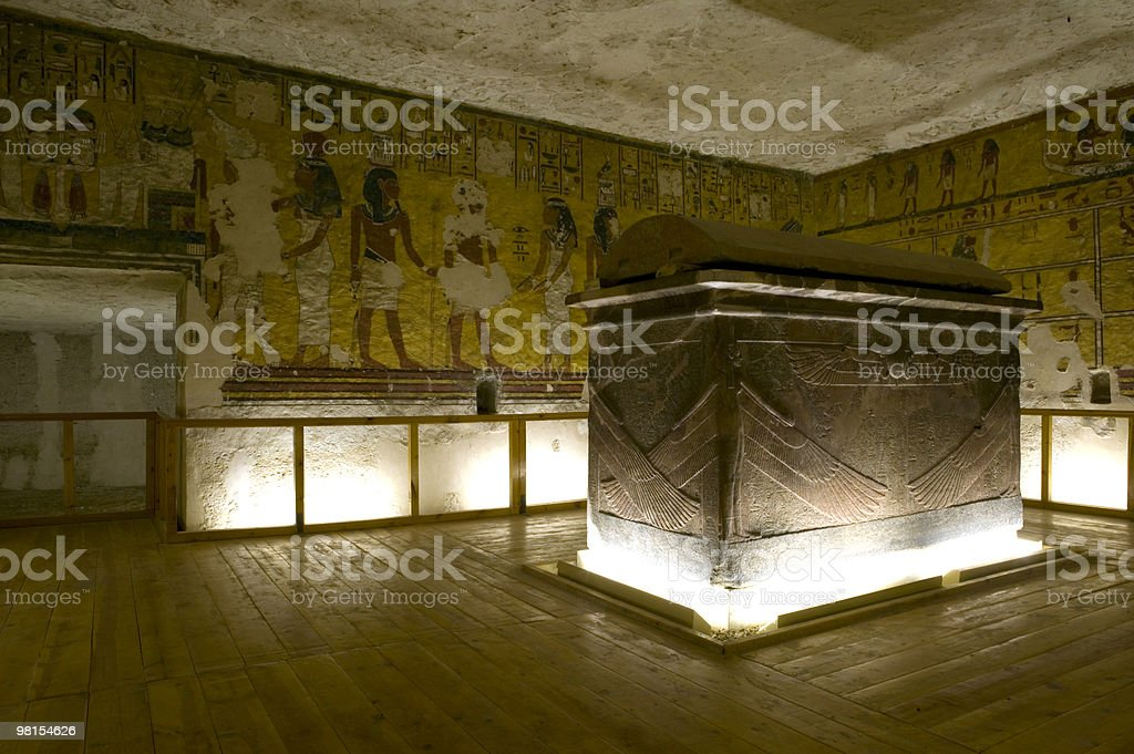 Pharaoh's tomb royalty-free stock photo