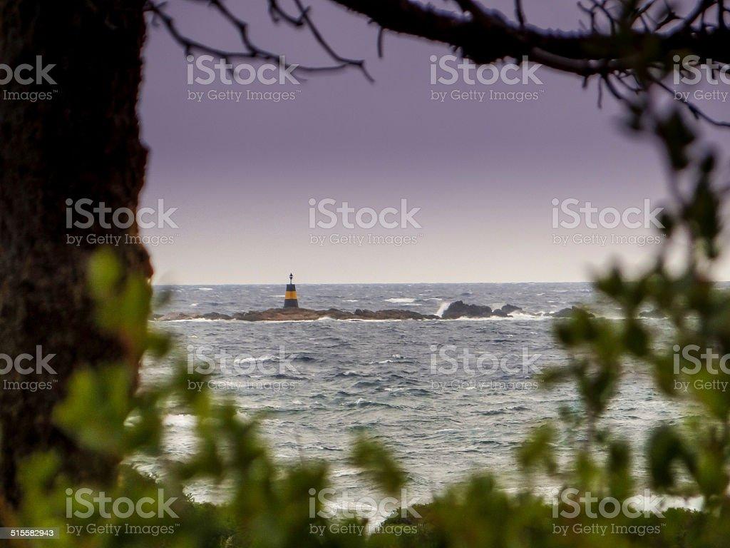 Phare et balise marines stock photo