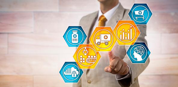 istock Pharma Logistician Monitoring Supply Chain 960991960