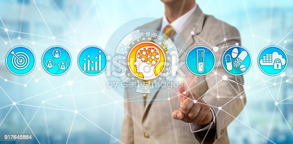istock Pharma Manager Initiating Artificial Intelligence 917645884