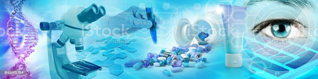 pharmaceutical and biochemistry concept stock photo