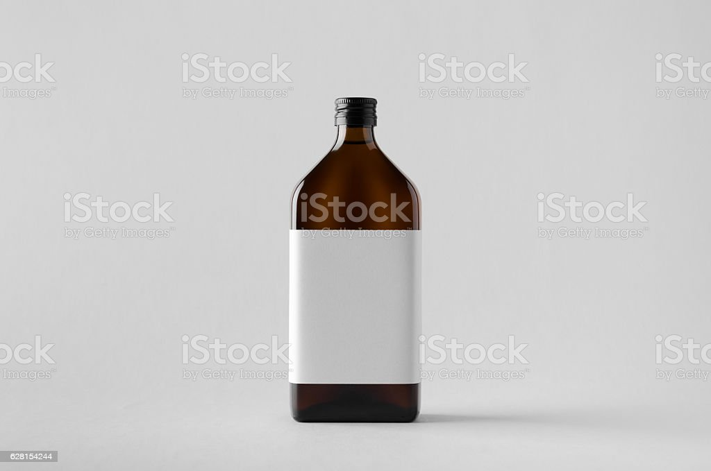 Pharmaceutical Bottle Mock-Up - Blank Label stock photo