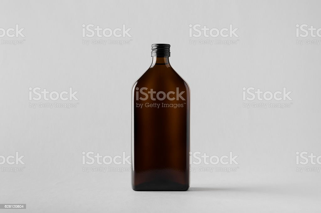 Pharmaceutical Bottle Mock-Up stock photo