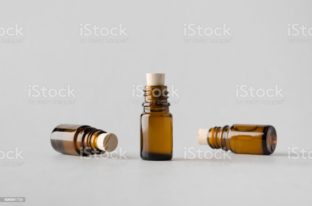 Pharmaceutical Bottle Mock-Up - Three Bottles stock photo