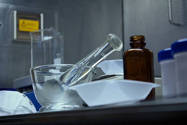 pharmaceutical compounding equipment ready for use - pharmaceutical compounding stock photos and pictures