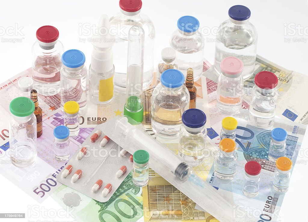 Pharmaceutical cost stock photo